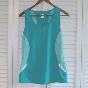 EUC Lucy Teal Athletic Top M Tank Sleeveless